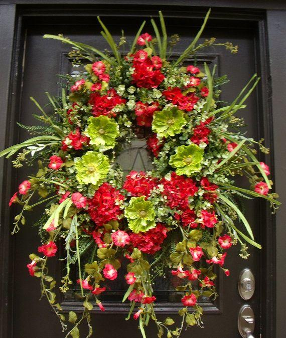 Extra Large Wreath Spring Wreath Front Door Wreath Summer