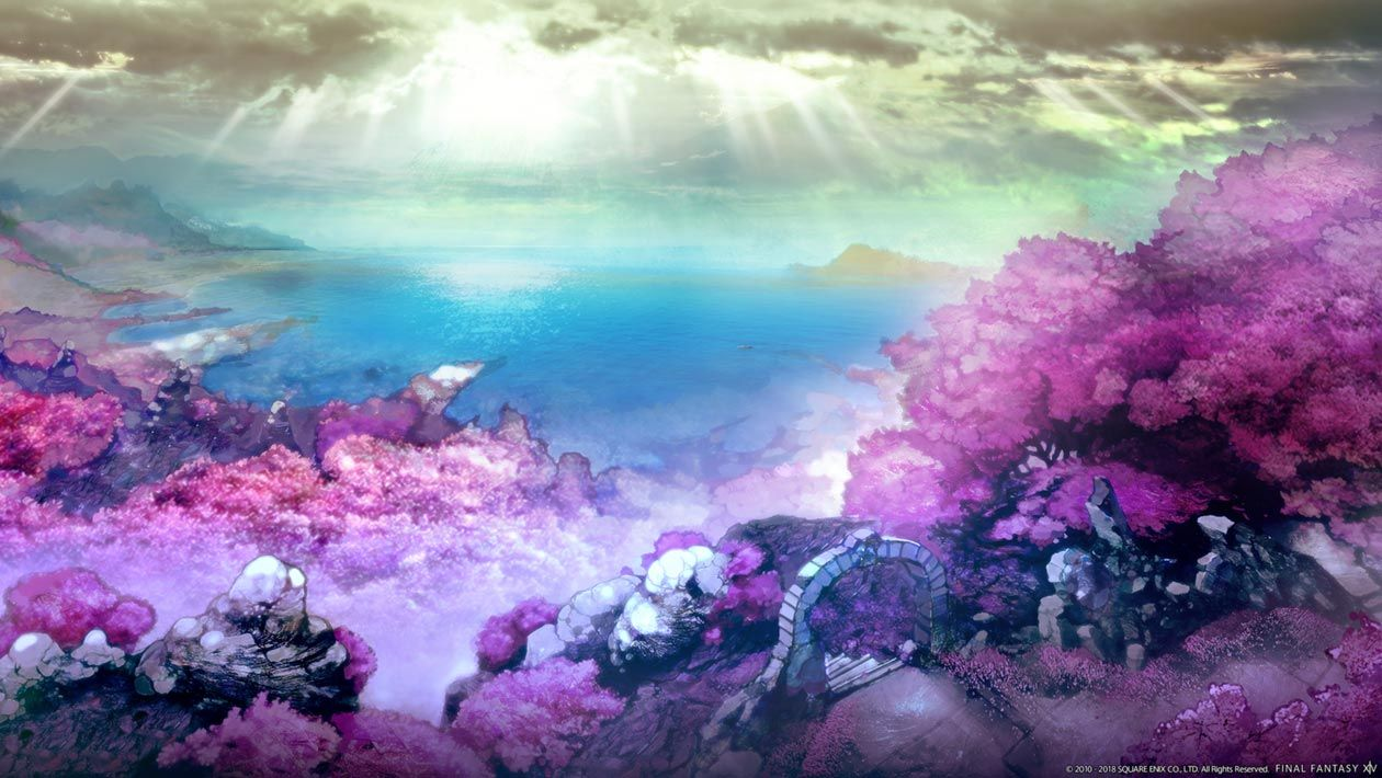 New Area Environment Artwork From Final Fantasy Xiv Shadowbringers