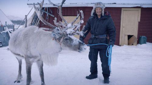 Åke und sein bester Freund: das Rentier Ole.