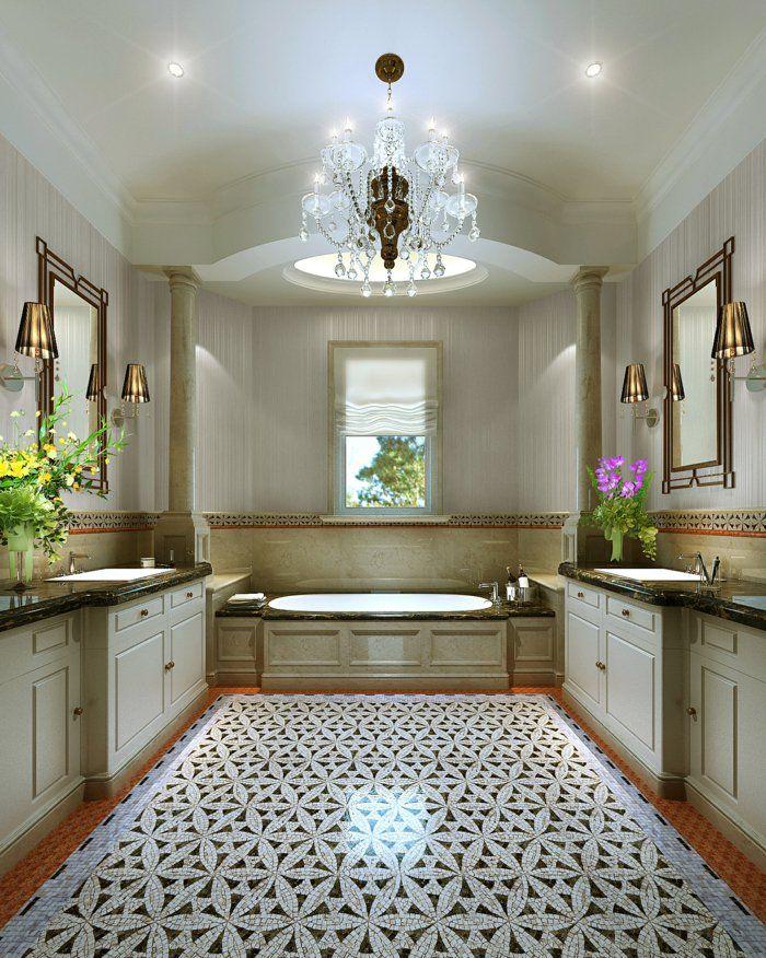 Genial Raumgestaltung Märchewnhaftes Badezimmer Schöne Wandleuchten Badewanne