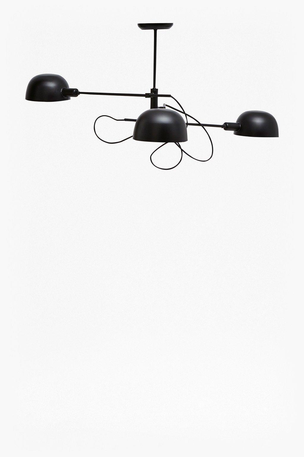 Matte Black Triple Ceiling Lamp | Lamp light, Ceilings and Lights