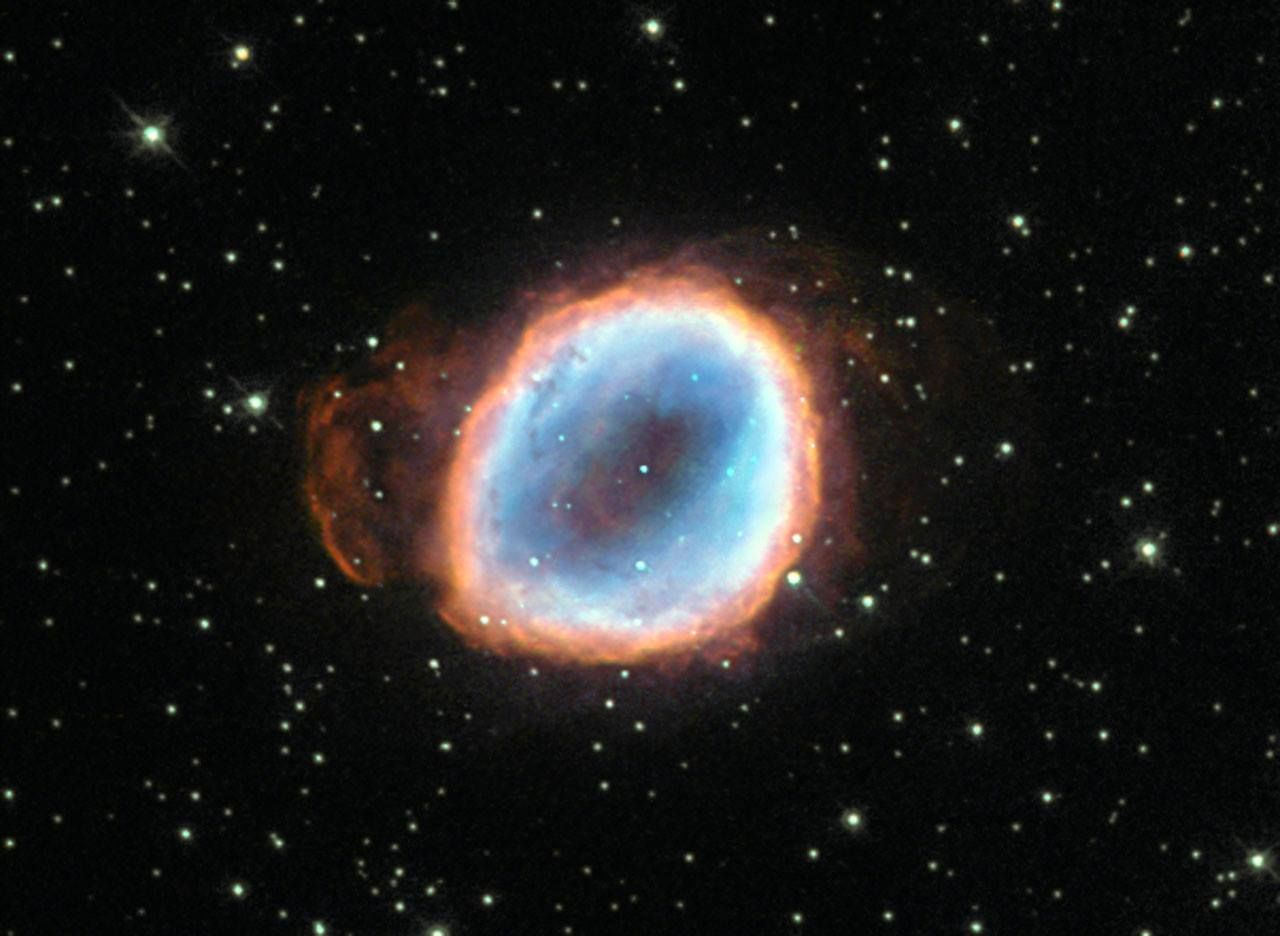 A dying star's final moments