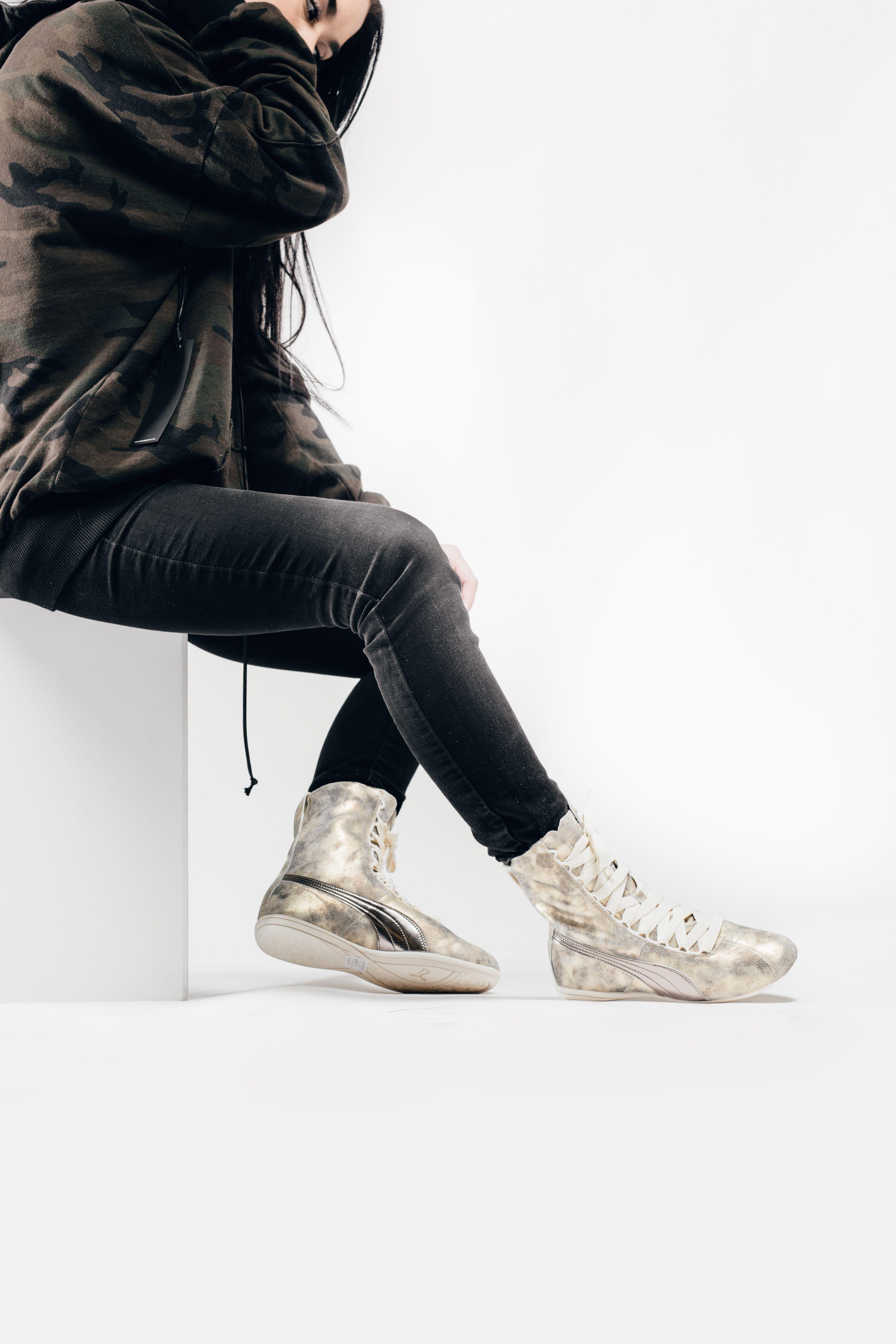 Puma x Rihanna Women s Eskiva Hi In Metallic Gold  Puma  Rihanna  Eskiva   Fashion  Streetwear  Style  Urban  Lookbook  Photography  Footwear   Sneakers ... c3a7d8cfa