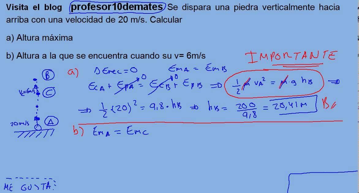 Energía y trabajo 19 conservación energía mecánica