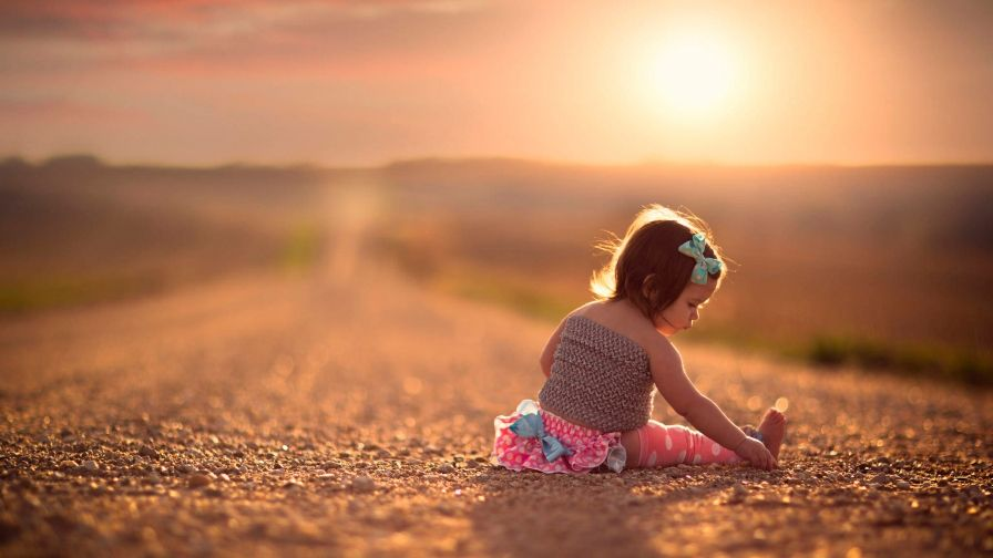 small child on road free download hd wallpapers