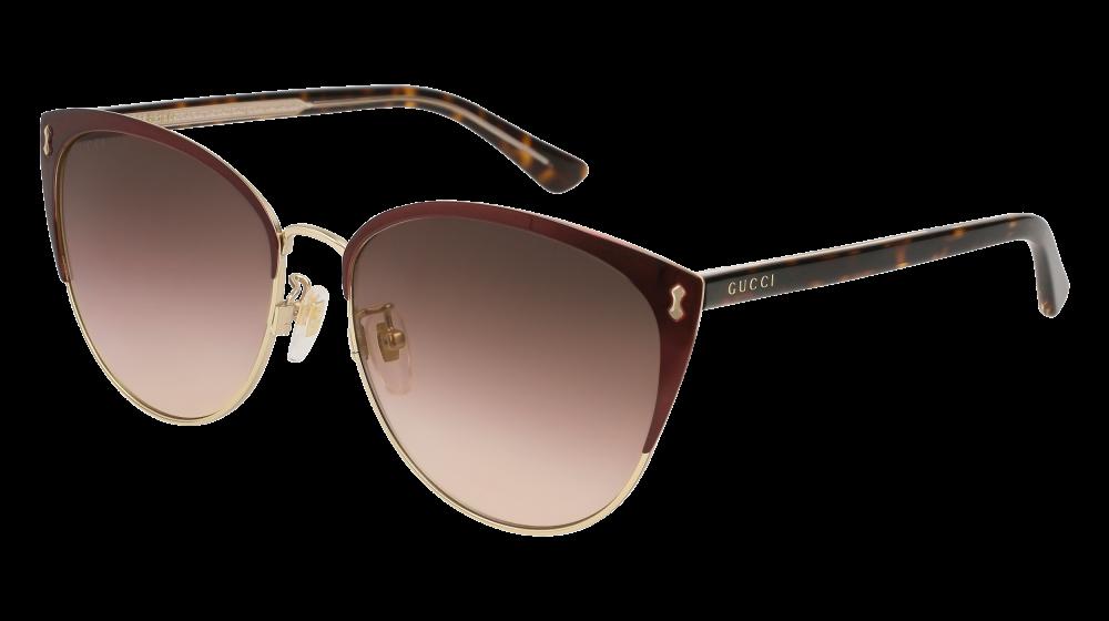 9e987e1124 Gucci - GG0197SK-005 Burgundy Avana Sunglasses   Brown Gradient Lenses
