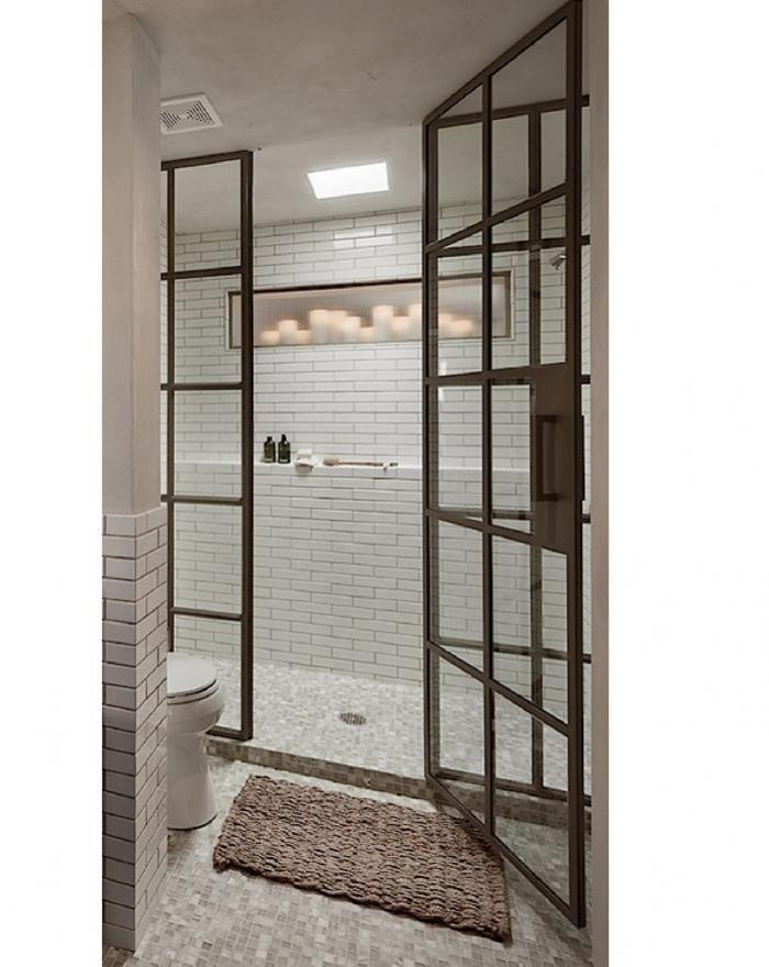 High Quality Love Metal Steel Shower Doors Steel Shower Enclosure By Janus Custom Steel,  Remodelista