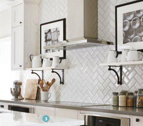Kitchen Backsplash Beveled Subway Tile ice white beveled subway tile | us ceramics 3x6 subway tiles