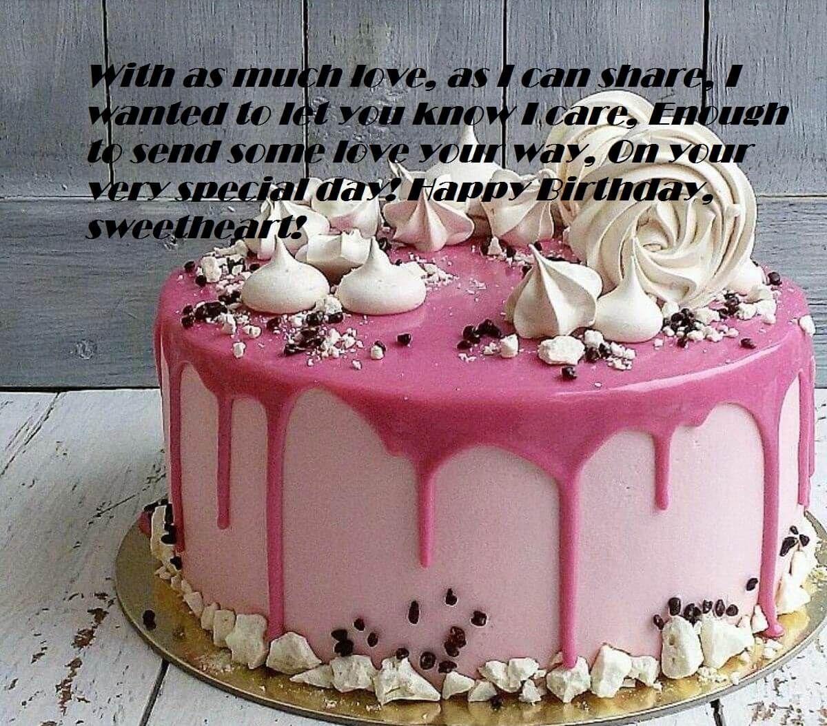 Happy Birthday Wishes Cake For Her Birthday Wishes Pinterest