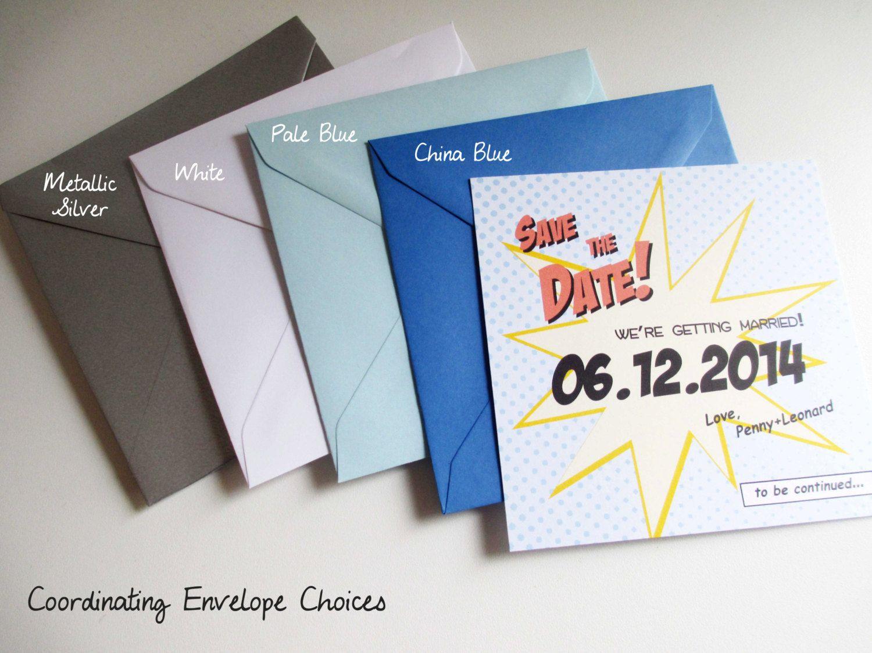 30x Retro Comic Popart Wedding Save the Date Blue by VanillaRetro ...