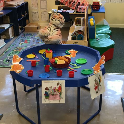 The Tiger Who Came To Tea Story Telling Tuff Tray