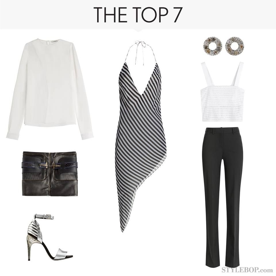 High-contrast goes glam with the sleek new look of black & white #Stylebop