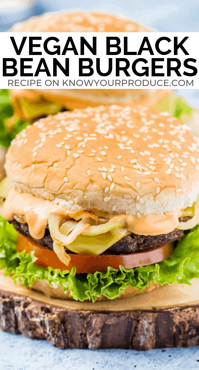 Vegan Black Bean Burgers With Mushrooms