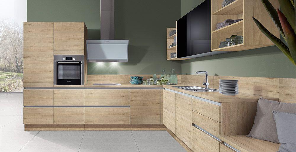 Schröder Küchen | Küche ohne Griffe | Fenix GLV schwarz | cuisine ...