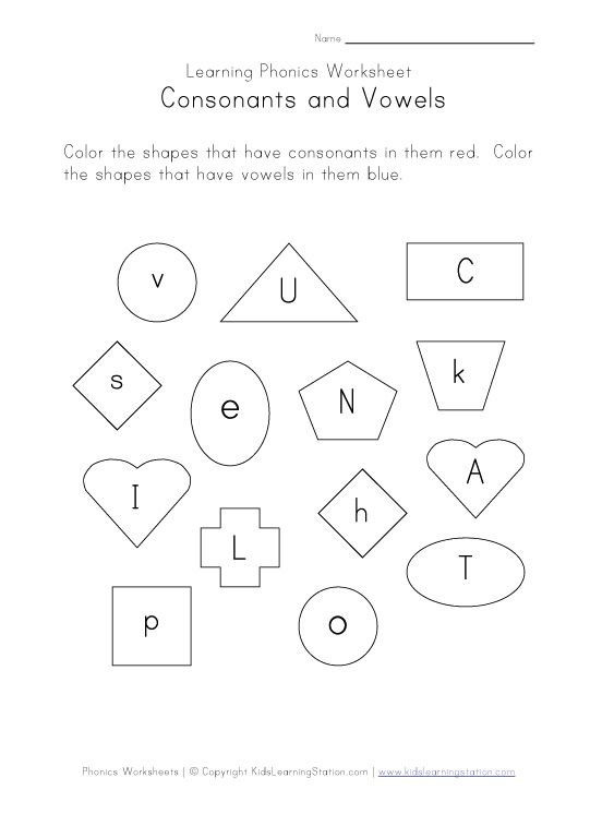 learn consonants and vowels with a bit of visual scanning too! From Kids Learning Station
