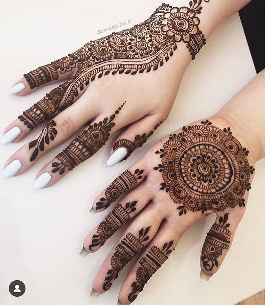 royal finger mehndi design easy