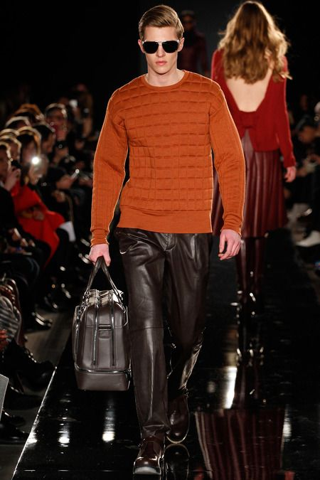 Porsche Design | Fall 2014 Ready-to-Wear Collection | I like the orange sweater