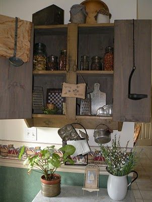 kitchen cabinets rustic the primitive country bug primitive decorating 21138