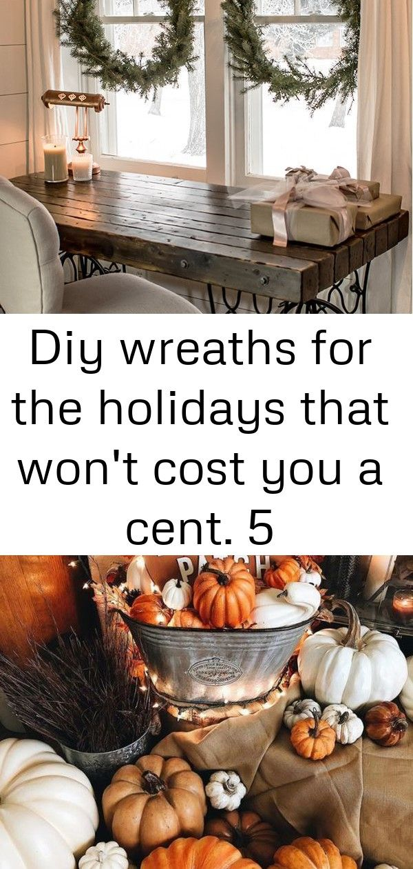 Diy wreaths for the holidays that won't cost you a cent. 5 Make these DIY wreaths for FREE  without buying a wreath form.  Make your own holiday decorations with a few pine tips and hedge branches.  This easy craft tutorial will show you how to make these Christmas wreaths and build a rustic window display all without spending a cent! J