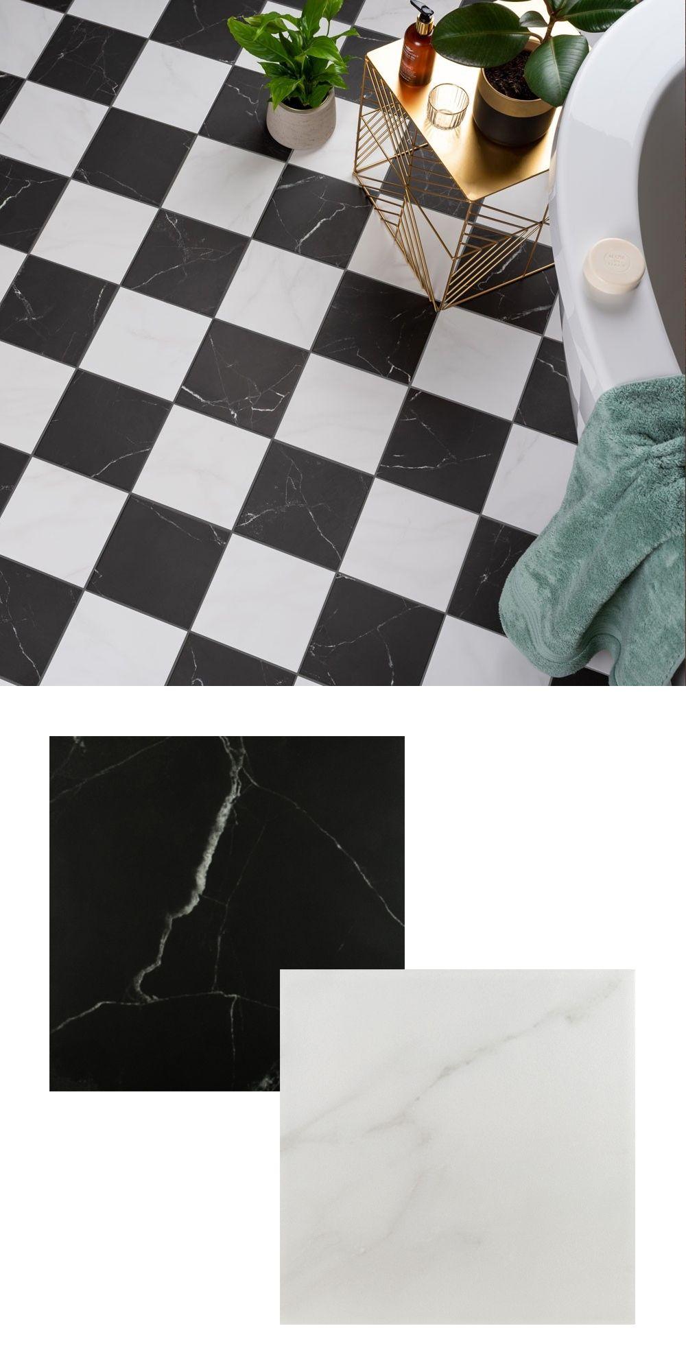 Soho Marble Effect Tiles in 2020 Black marble bathroom