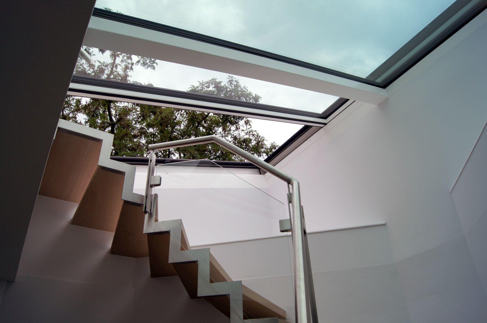 Küchendesign für bungalowhaus dachschiebefenster auf flachdach ansicht von innen  bilder zu