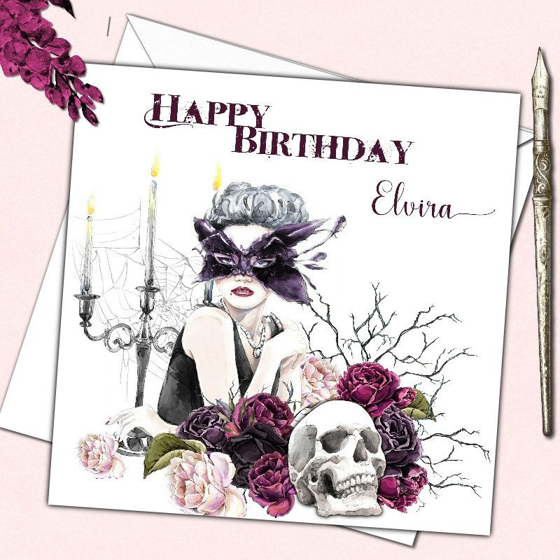 Personalised Gothic Birthday Card Female Mother Sister