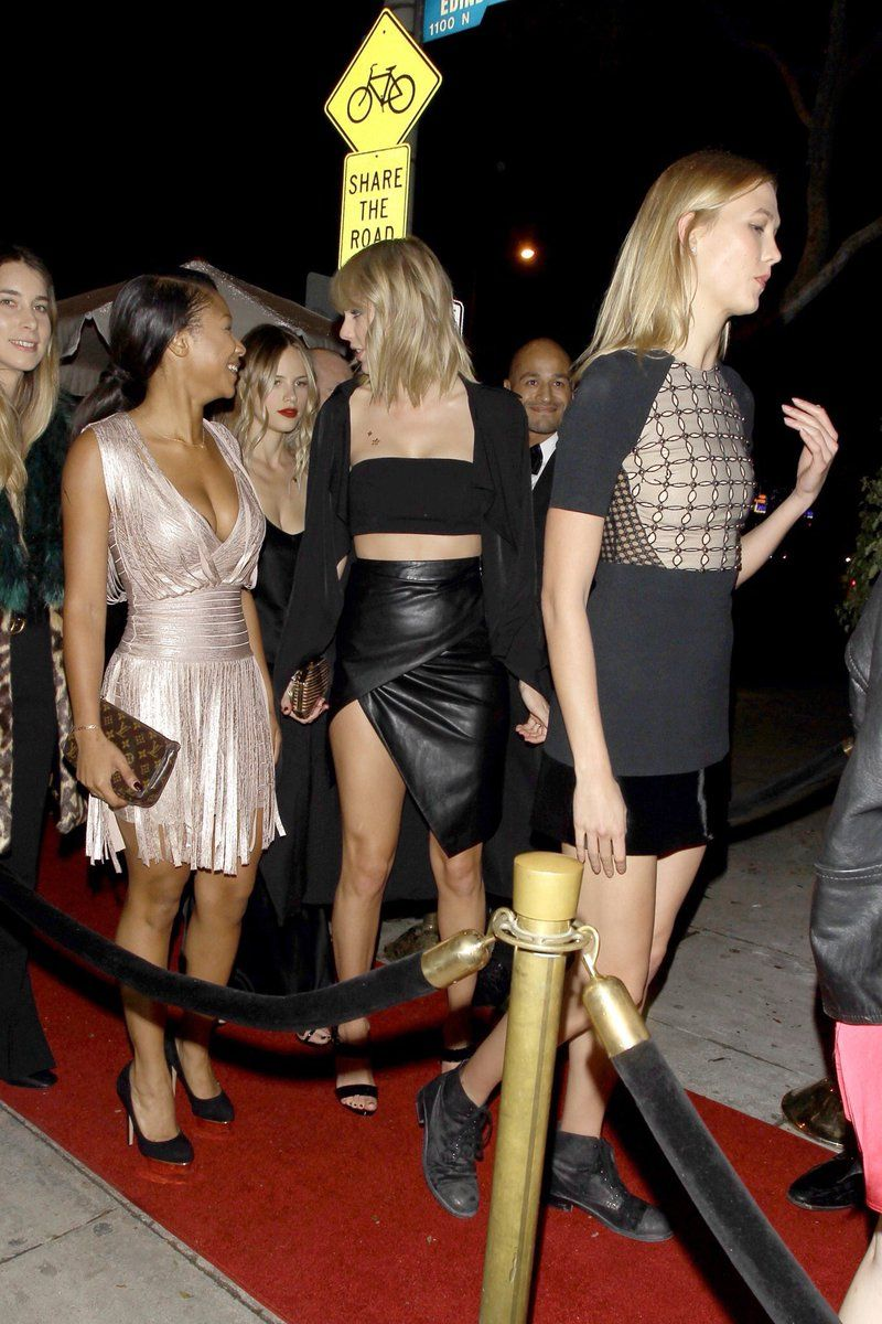 Image result for taylor and karlie at drake's party