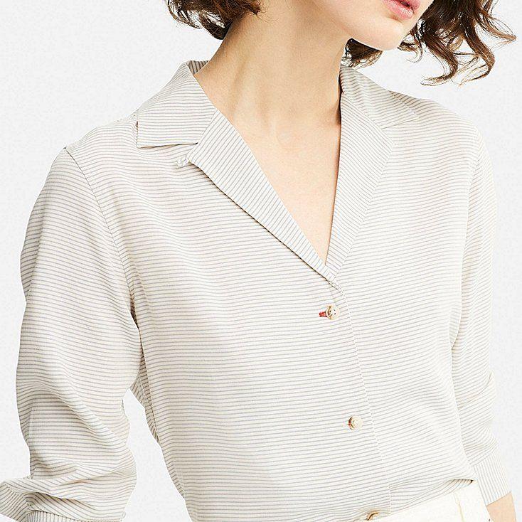 55e11ffc9cf053 Women idlf rayon open collar long-sleeve blouse | ss 18 | Blouse ...