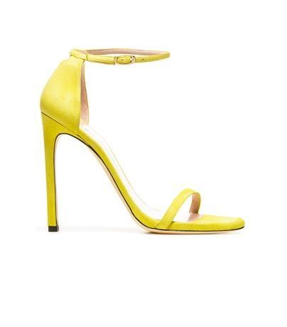 Yearning for Spring: Yellow single strap heels from Stuart ...