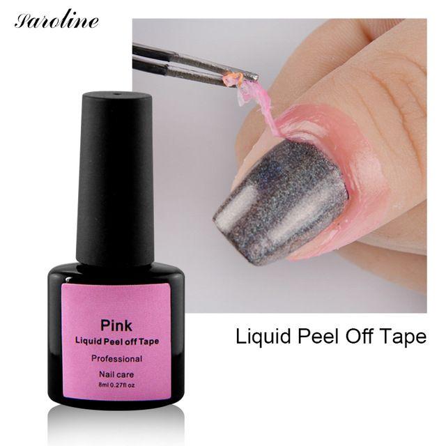 Saroline White Pink Gel Polish Tape Easy To Clean Nail Polish Finger ...