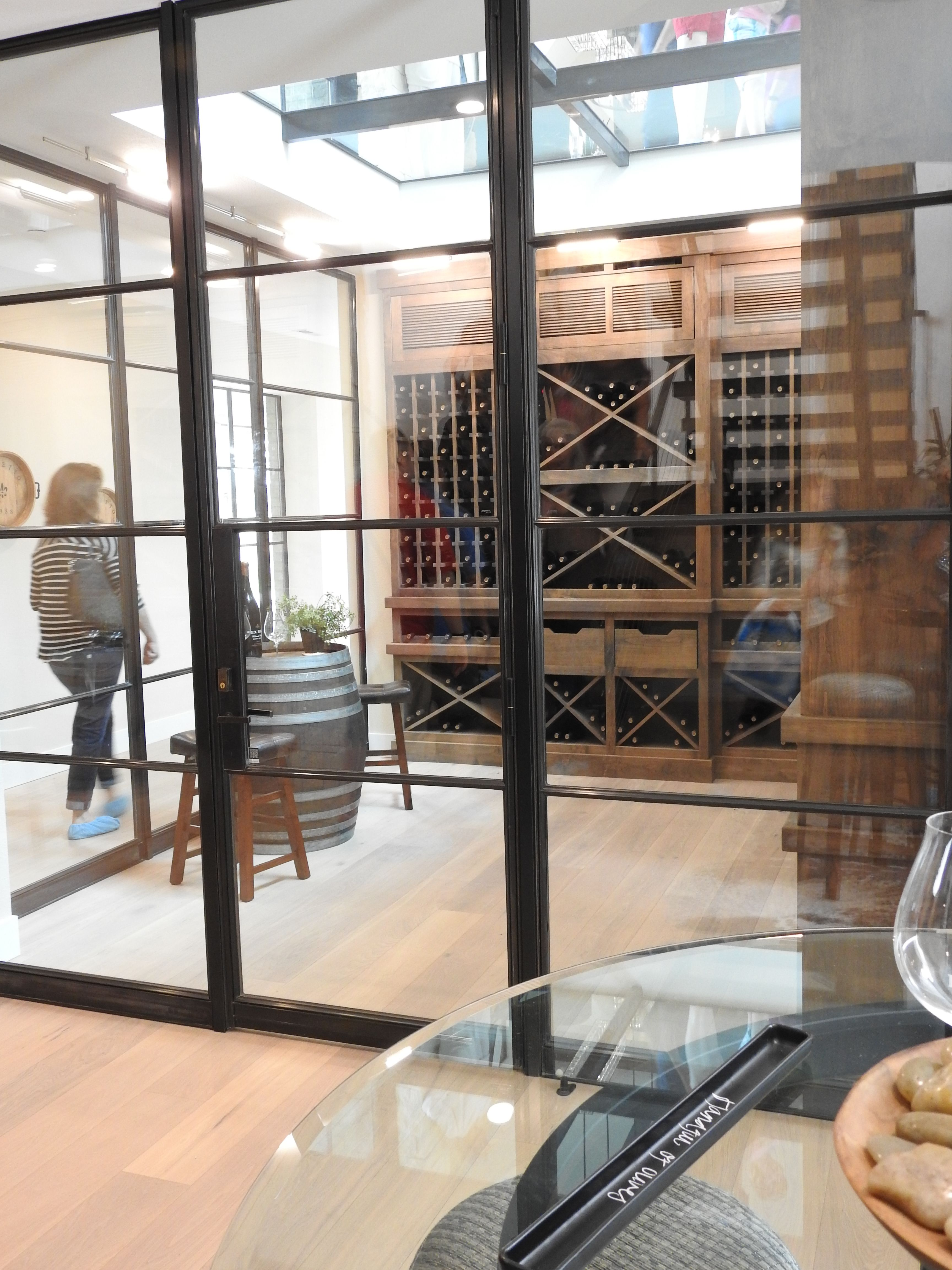 Glass Wine Cellar With Glass Ceiling With View To Floor Above Why Glass Wine Cellar Glass Ceiling Wine Cellar