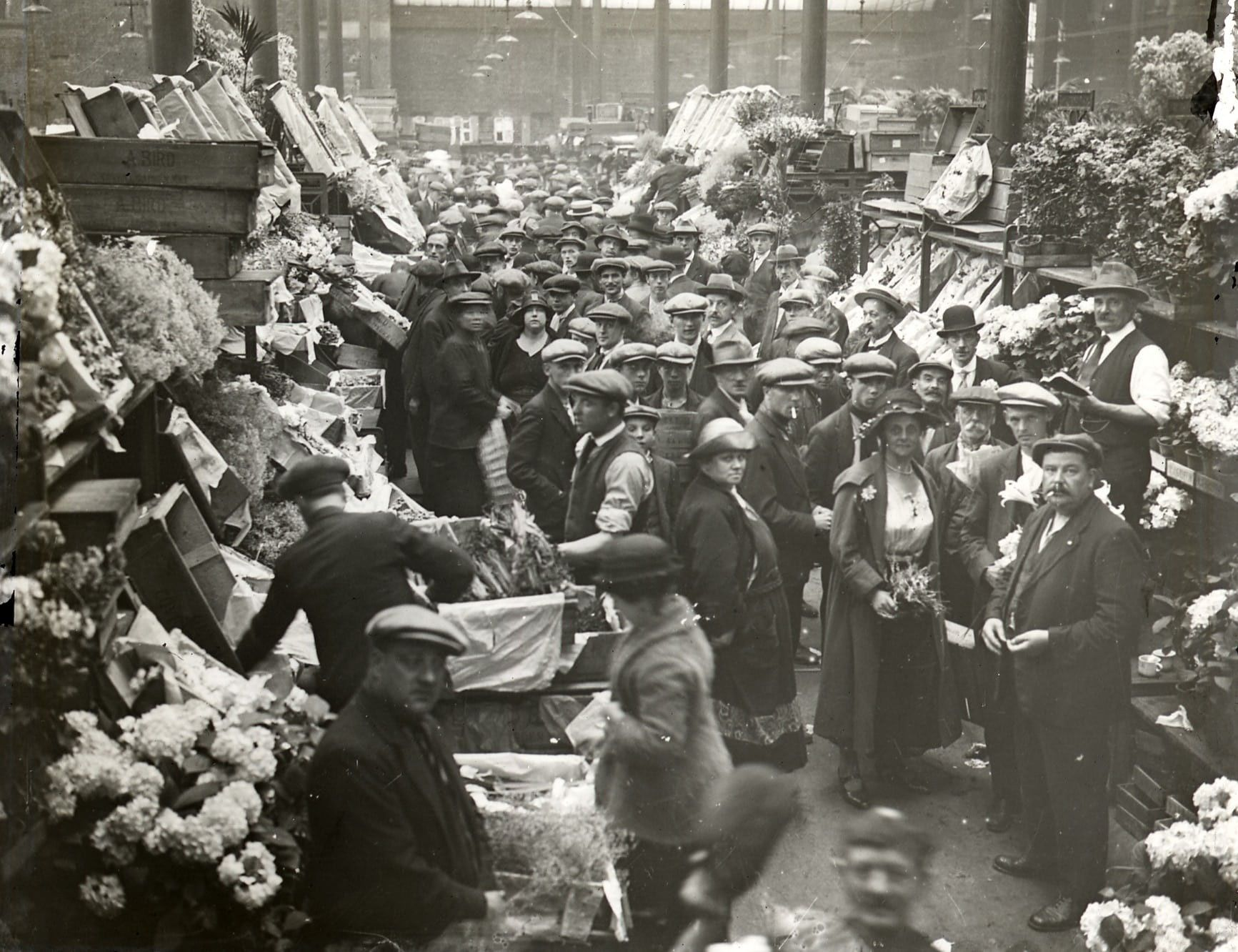 Covent Garden Market, Floral Hall. Photographer unknown. c