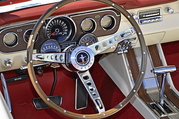 1966 Mustang - love the two tone interiors in red/white and blue/white