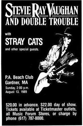 stevie ray vaughn with the stray cats live 11x17 rare very limited concert poster print only one. Black Bedroom Furniture Sets. Home Design Ideas
