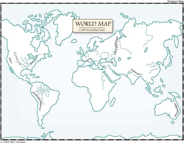 unlabeled world map education high school and middle school