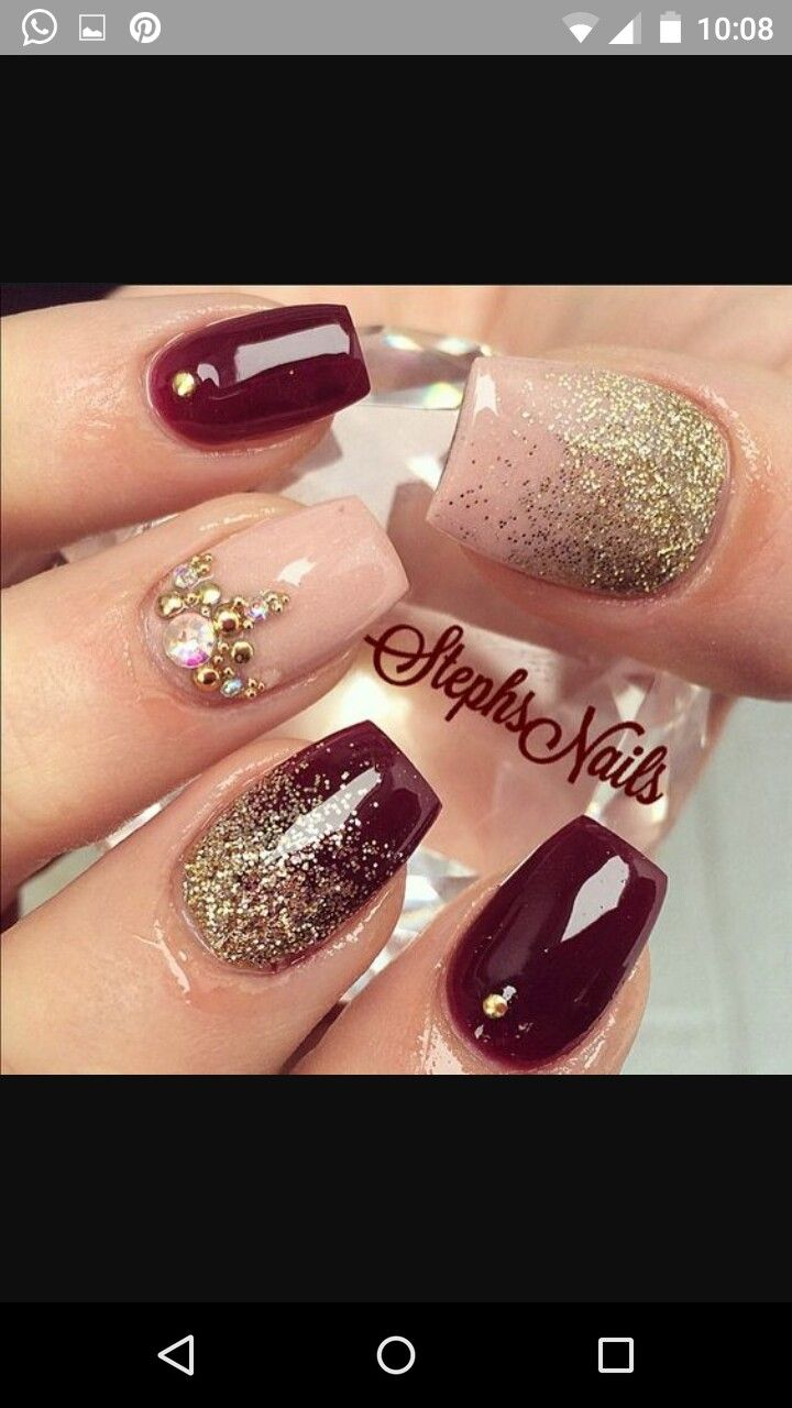 Pin by yare armendariz on uas pinterest winter nail colors top 40 beautiful glitter nail designs to make you look trendy and stylish page 16 of 42 nail polish addicted prinsesfo Choice Image
