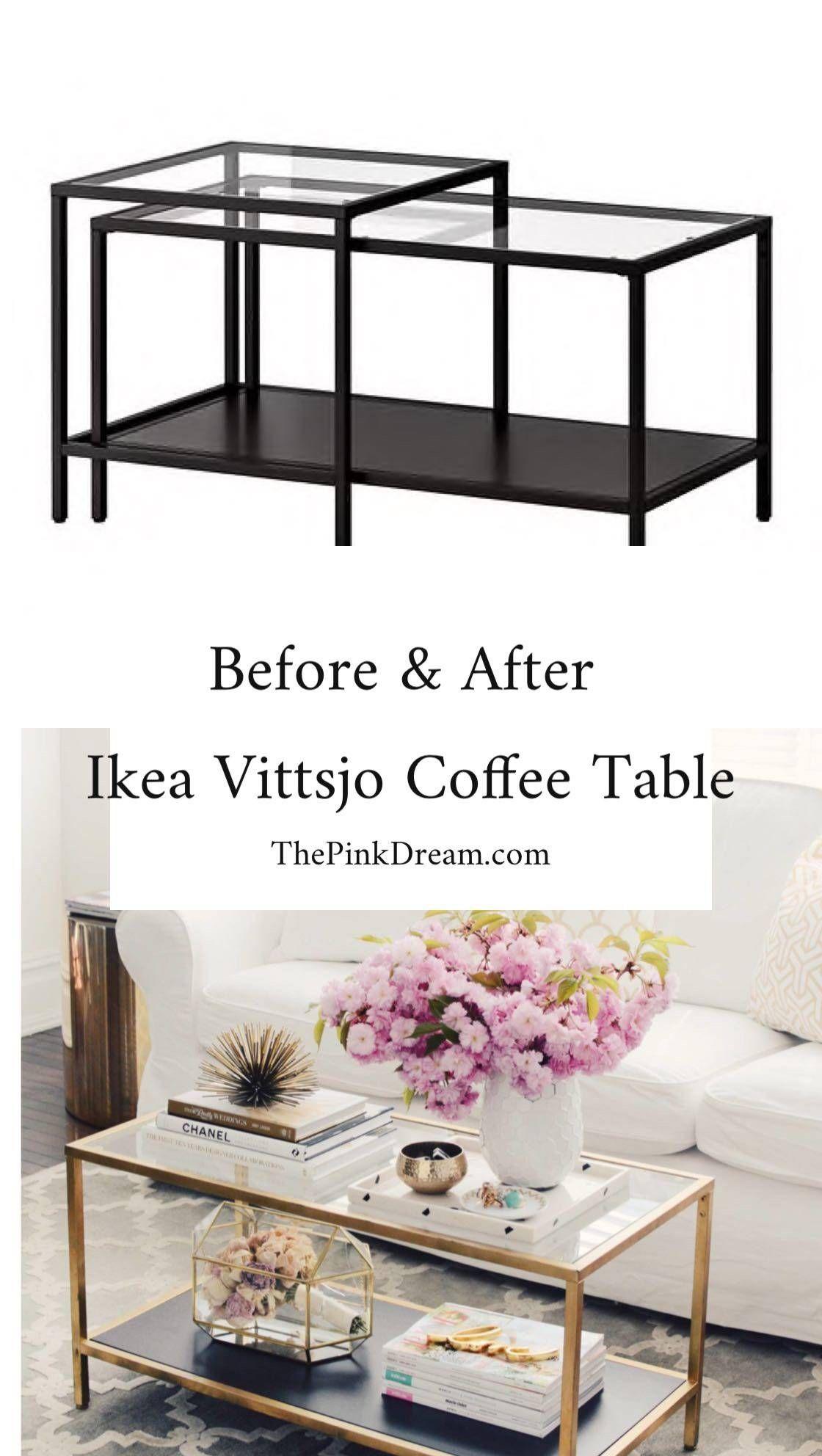 Ikea Vittsjo Coffee Table Hack Step By Step Ikea Vittsjo Table Hack Ikea Coffee Table Coffee Table Ikea Hack Coffee Table Hacks [ 1984 x 1120 Pixel ]