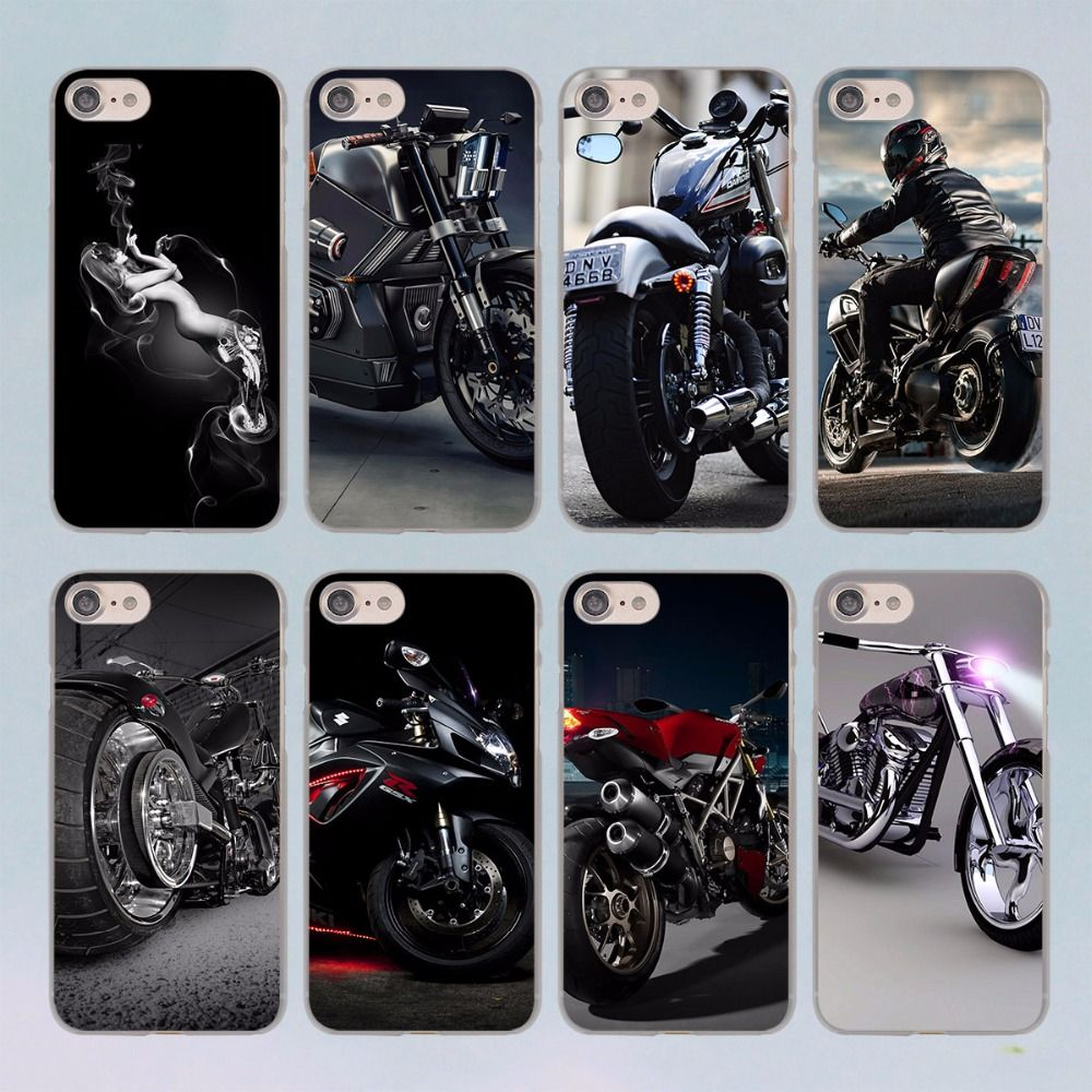 low priced fa369 91b8d Classic Motorcycle design transparent clear hard case cover for ...