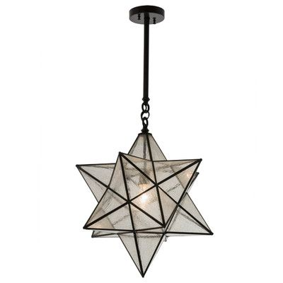 Meyda Tiffany Moravian Star 1 Light Geometric Pendant