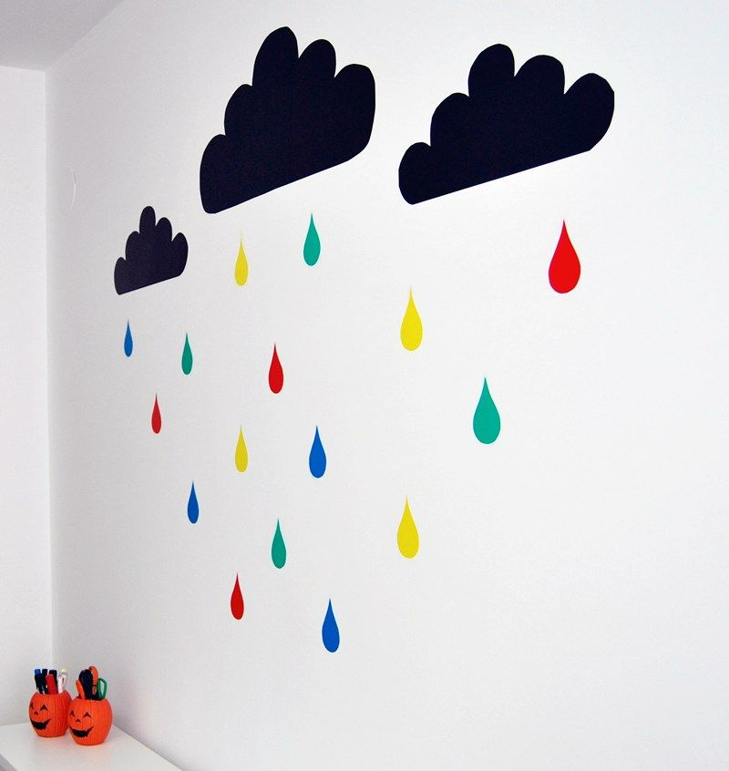 Good idea para decorar una pared con poco dinero construye tu propio vinilo con papel adhesivo