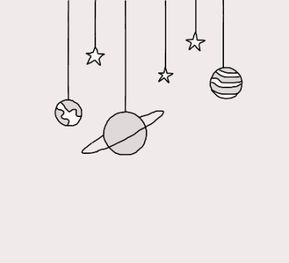 Planets and Stars Drawing