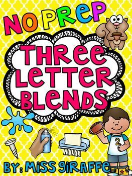 3 Letter Blends Trigraphs Worksheets & Activities {NO PREP ...