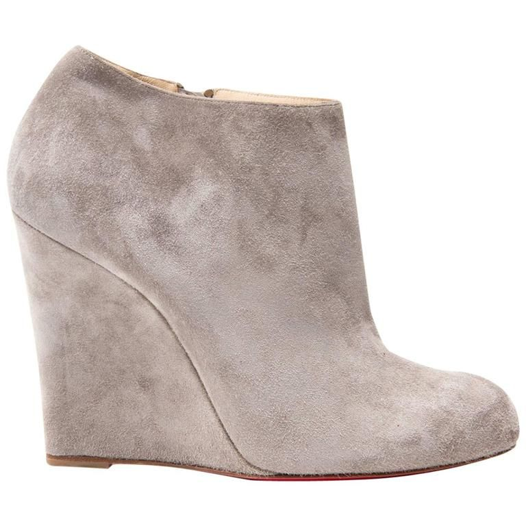 Wedge boots, Suede ankle boots, Boots