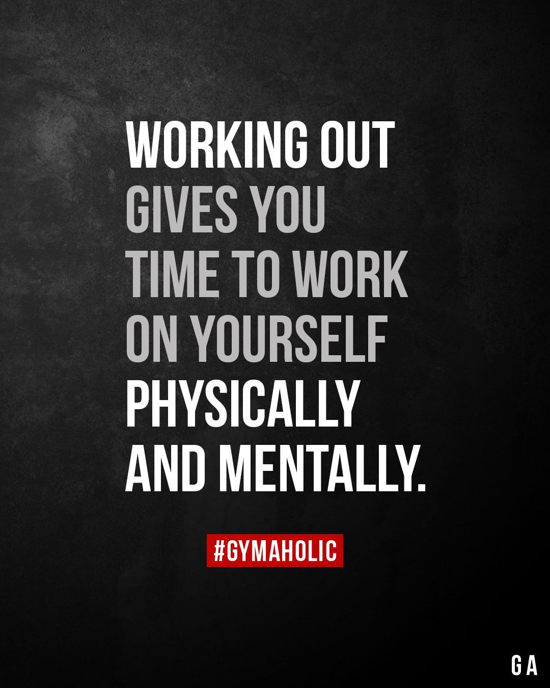 Working out gives you time to work on yourself physically and mentally.        Working out gives you...