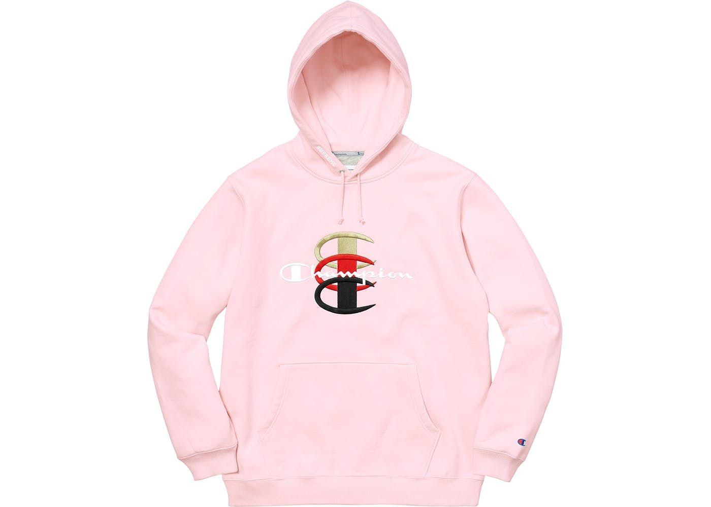 ade97255b Supreme Champion Stacked C Hooded Sweatshirt Light Pink in 2019 ...