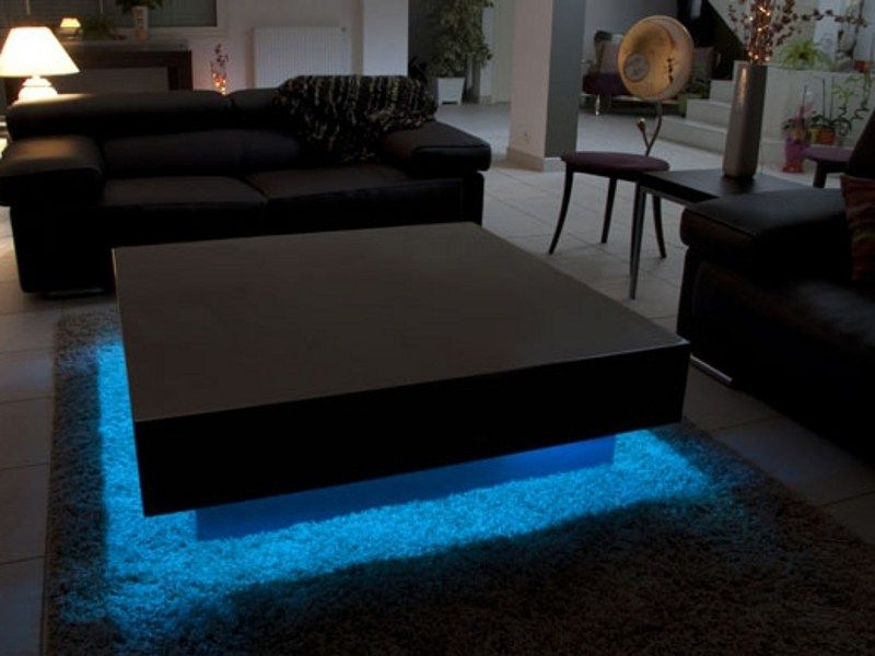 Add A Bit Of Interest To A Room With A Coffee Table With An Integrated Light