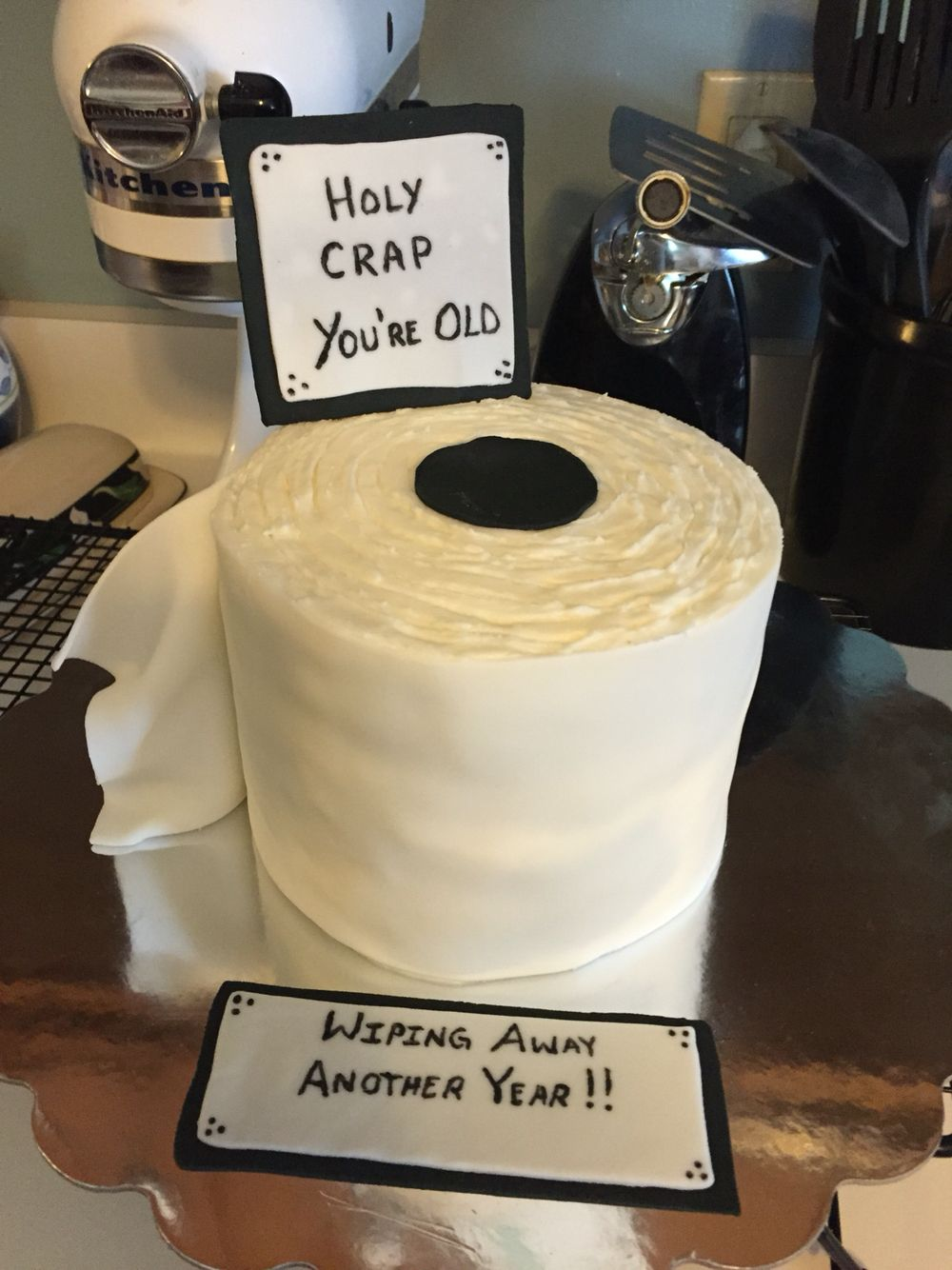 Funny Toilet Cake Images : Toilet paper roll cake for a friend s 40th birthday My ...
