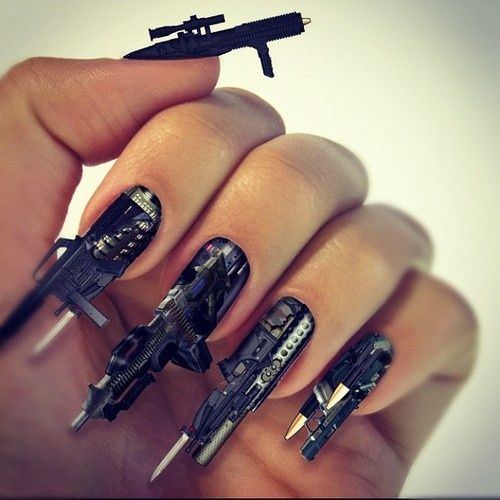 crazy+nail+images | Crazy Nail Designs Ideas | NAILS, EYES, LIPS ...