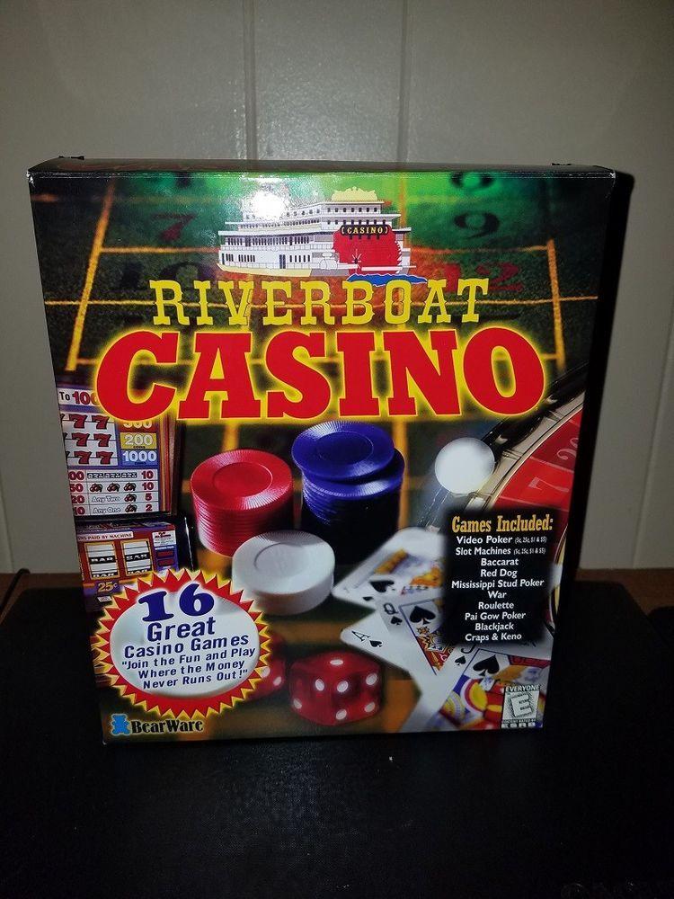 River Boat Casino Personal Home Computer Game CD Rom Win 95 Win 98