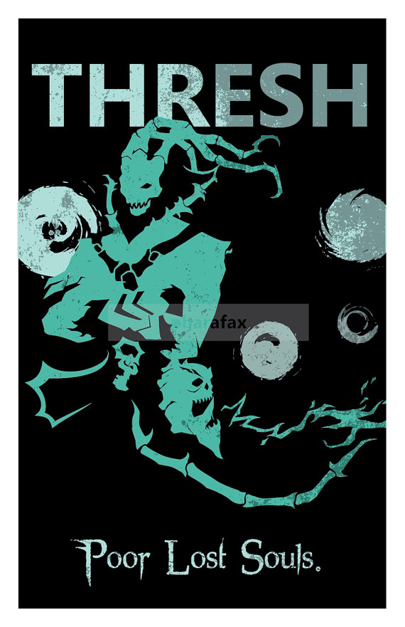 Thresh: League of Legends Print por pharafax en Etsy